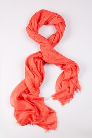 Coral Polyester Twinkle Scarf