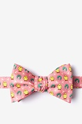 Coral Silk Chick Magnet Bow Tie