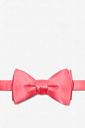 Coral Butterfly Bow Tie
