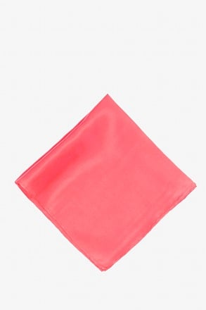 _Coral Pocket Square_