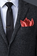 Coral Pocket Square