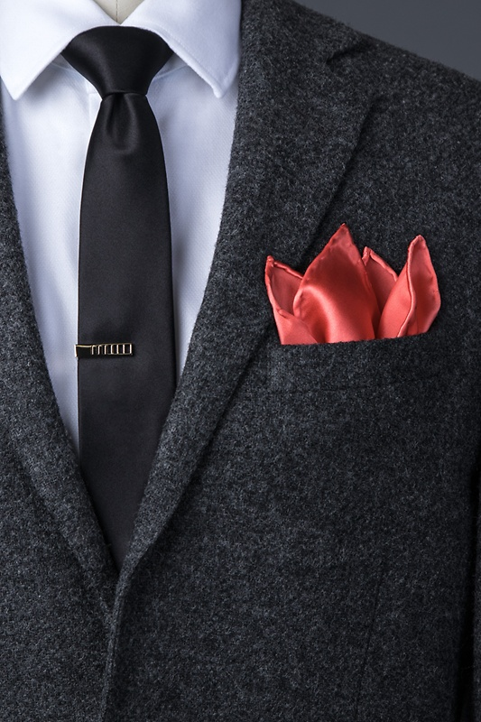 Coral Pocket Square Photo (2)