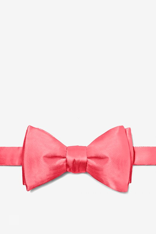 Coral Self-Tie Bow Tie Photo (0)