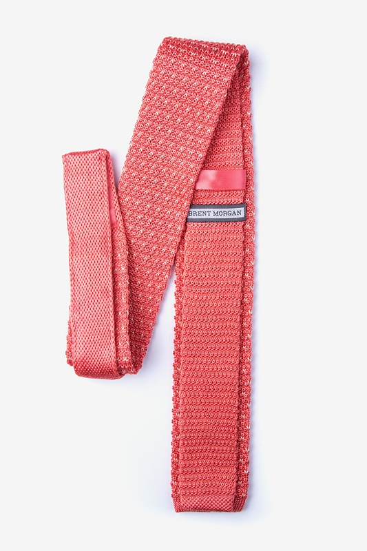 Laos Coral Knit Skinny Tie Photo (1)