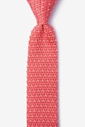 Laos Coral Knit Skinny Tie Photo (0)