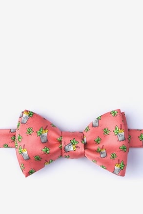 Mint Condition Coral Self-Tie Bow Tie
