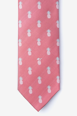 _Tropic Like its Hot Coral Tie_