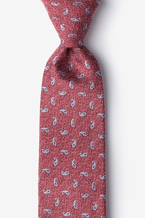 Coral Bucharest Paisley Tie
