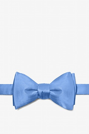 Cornflower Blue Butterfly Bow Tie