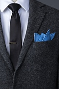 Cornflower Blue Pocket Square Photo (2)