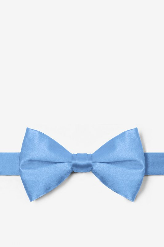 Cornflower Blue Pre-Tied Bow Tie Photo (0)