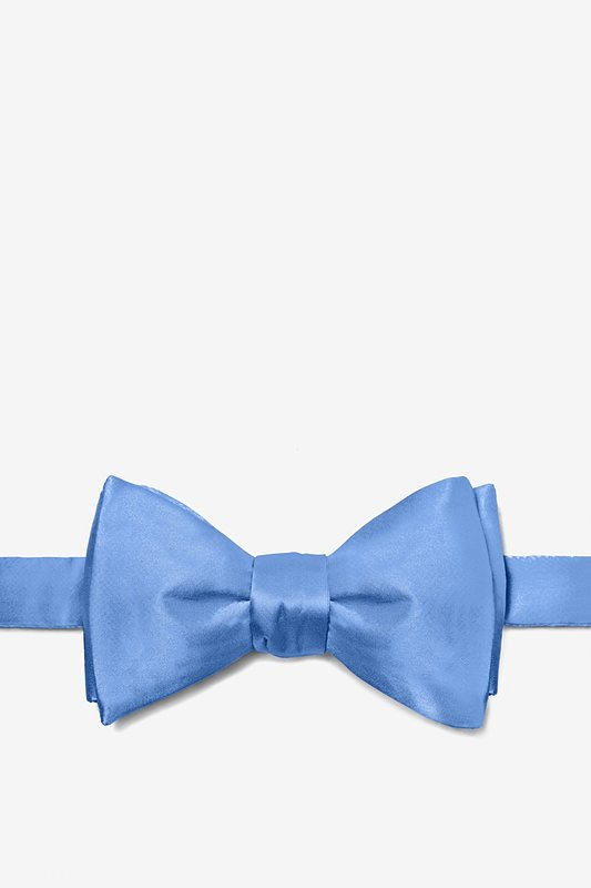 Cornflower Blue Self-Tie Bow Tie Photo (0)
