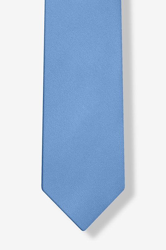 Cornflower Blue Tie For Boys Photo (2)