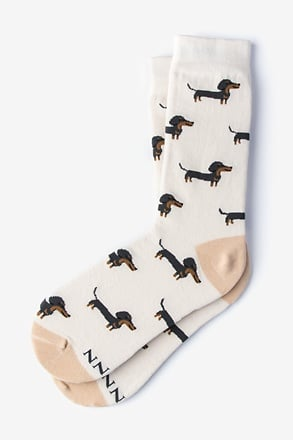 _Dachshund | Weiner Dog Cream Women's Sock_