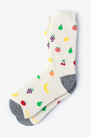 Mixed Fruit Cream Women's Sock