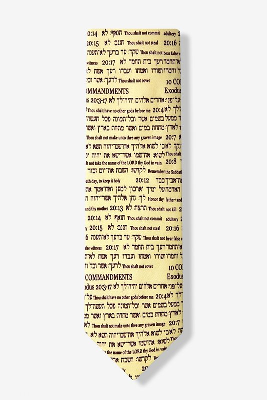 10 Commandments Tie Photo (1)