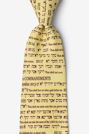 10 Commandments Tie