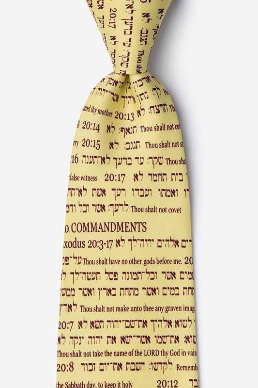 10 Commandments Tie Photo (0)