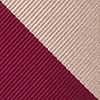 Crimson Microfiber Crimson & Cream Stripe Extra Long Tie