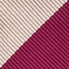 Crimson Microfiber Crimson & Cream Stripe Self-Tie Bow Tie