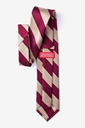 Crimson & Cream Stripe Extra Long Tie