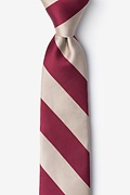 Crimson & Cream Stripe Tie For Boys