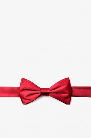 Crimson Red Bow Tie For Boys