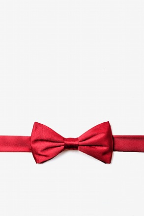 _Crimson Red Bow Tie For Boys_