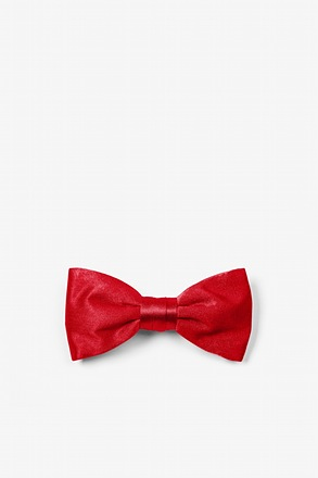 _Crimson Red Bow Tie For Infants_