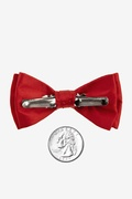 Crimson Red Bow Tie For Infants