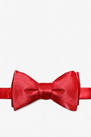 Crimson Red Butterfly Bow Tie
