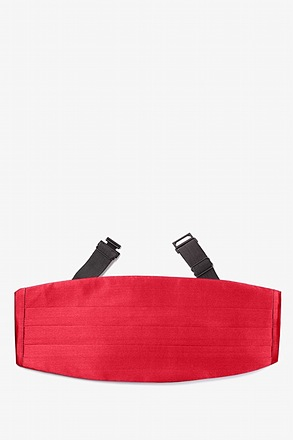 Crimson Red Cummerbund
