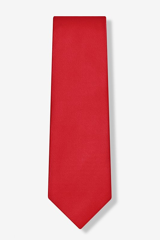 Crimson Red Extra Long Tie