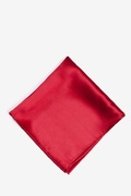 Crimson Silk Crimson Red Pocket Square