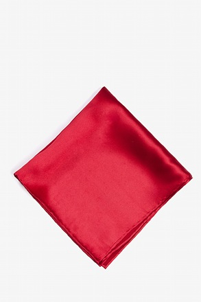 _Crimson Red Pocket Square_
