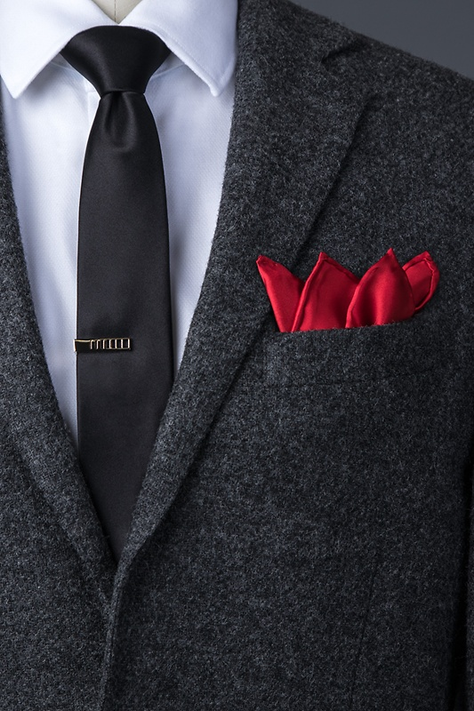 Crimson Red Pocket Square