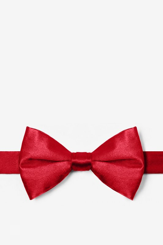 4f711180b18e ... Crimson Red Pre-Tied Bow Tie Photo (0) ...