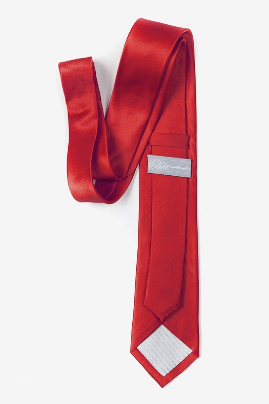 Crimson Red Skinny Tie