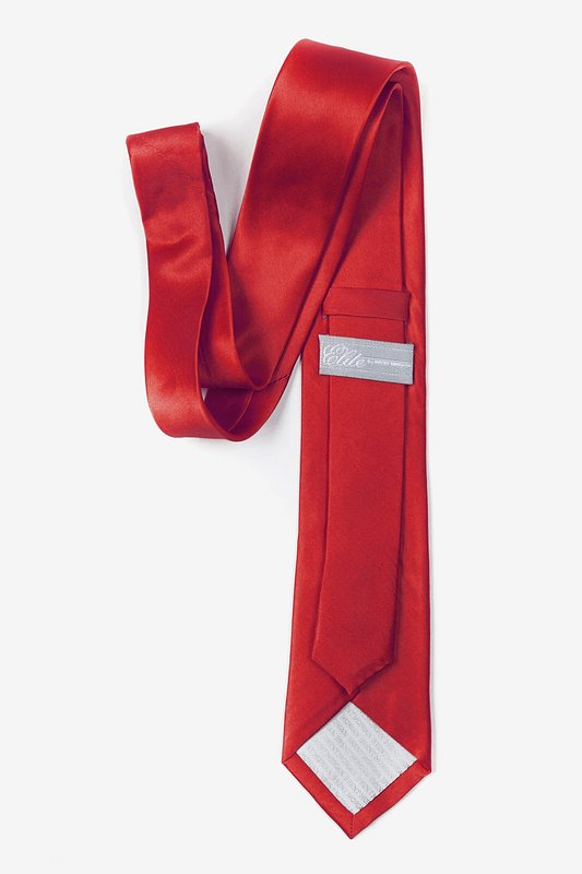 Crimson Red Tie For Boys