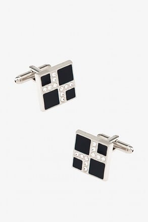 _Make a Point Dark Blue Cufflinks_