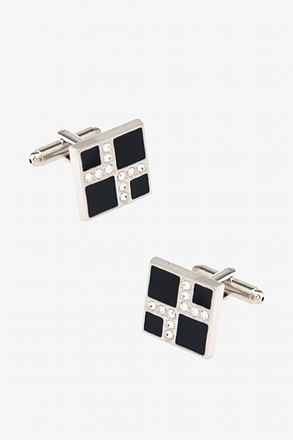 Make a Point Dark Blue Cufflinks