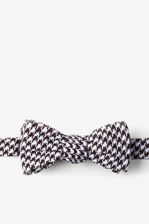 Dark Brown Blair Houndstooth Batwing Bow Tie