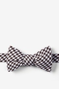Dark Brown Cotton Dark Brown Blair Houndstooth Self-Tie Bow Tie