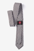 Dark Brown Blair Houndstooth Skinny Tie Photo (2)