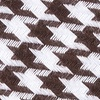 Dark Brown Cotton Dark Brown Blair Houndstooth Skinny Tie