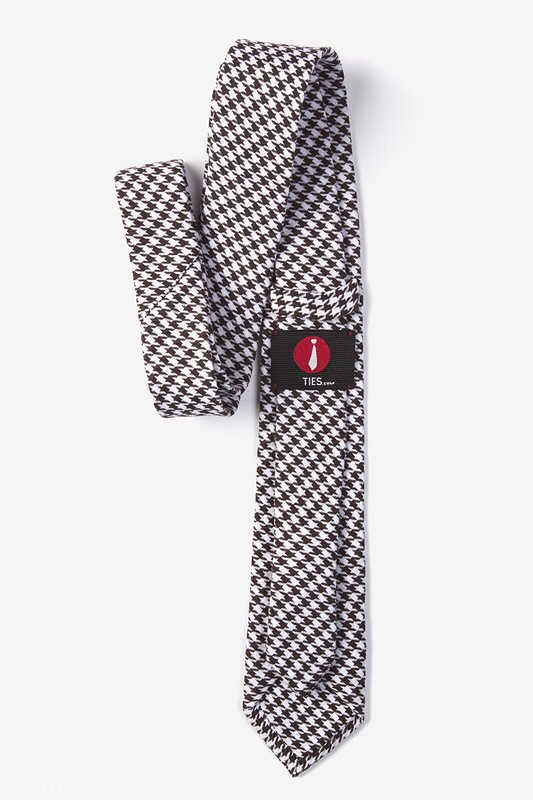 Dark Brown Blair Houndstooth Skinny Tie