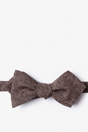 Galveston Dark Brown Diamond Tip Bow Tie