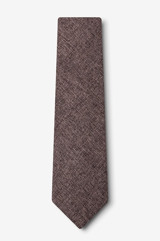 Galveston Dark Brown Extra Long Tie Photo (1)