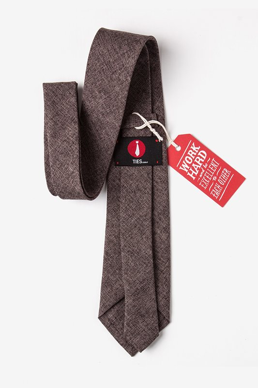 Galveston Dark Brown Extra Long Tie Photo (2)