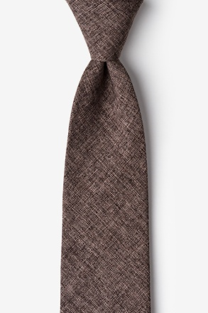 _Galveston Dark Brown Extra Long Tie_